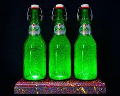 Grolsch Lager Beer LED Bottle Lamp Unique by DiamondLiquorLights