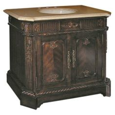 Pacifica Chest Single Bathroom Vanity by Legion Furniture. $1471.20. Solid birch wood construction. Single-sink design with beveled-edge countertop. Measures 40W x 22D x 36H inches. Sturdy and ornamental iron door pulls. Elegant carvings on cabinet faces, base, and top. For the elegant, distinguished aficionado of fine decor, the Pacifica Chest Single Bathroom Vanity makes an excellent choice. At 40 inches in width, it is a superb mid-sized vanity with a lovely marble top. Comp...
