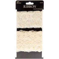 Ivory Lace Trim Ribbon | Hobby Lobby | 1062488--for garter
