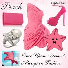 Disney Style: Peach, created by trulygirlygirl