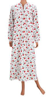 2d373f0bc2 Lanz of Salzburg Cardinal-Print Flannel Nightgown Flannel Nightgown