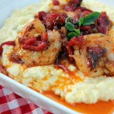 This recipe is fast, easy and arguably the best shrimp and grits around. The goat cheese added to the grits not only lends a fabulous, creamy texture, but also amazing flavor. When I make this for the kids, I cut back on the cayenne spice a bit in the seasoning.