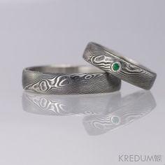 Damascus steel ring from Czech blacksmith