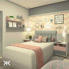 E essa combinação de rosa e cinza para esse quarto de menina?! E aí, gostaram? O cinza é o novo bege na decoração!❤️✨ Projeto: Daniel Kroth. #maisinteriores #decor #somosconteudo_