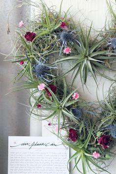 HEART wreath no2  // air plant tillandsia by peacocktac