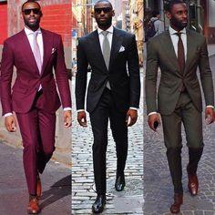 Groom Suit Wedding Suits For Men 2016 Mens Striped Suit Wedding Groom Tuxedo Suit Black Burgundy Wedding Tuxedos For Men plus si Black Men Fashion Tips, Mens Fashion Suits, Mens Suits, Der Gentleman, Gentleman Style, Sharp Dressed Man, Well Dressed Men, Dandy, Street Style Inspiration