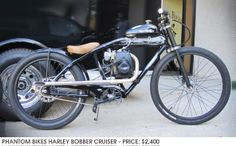 Phantom Bikes Harley Bobber Cruiser $2400 :: Cool Motorized Bicycles Built by Phantom Bikes in San Diego