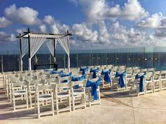Saturday I witnessed one of the most beautiful weddings I've seen to date. The set up at Beach Palace is breathtaking! #destinationweddings #playyourwaytravel www.playyourwaytravel.com Destination Weddings, Far Away, Palace, Most Beautiful, Beach, Travel, Destination Wedding, Viajes, Traveling