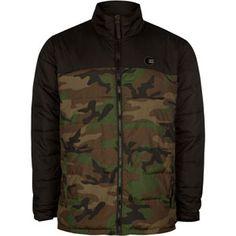 BILLABONG All Day Mens Puffer Jacket #camo