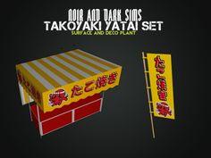 Takoyaki Yatai Decor Set - Sims 3 Downloads CC Caboodle