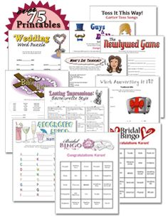printable bachelorette and bridal shower games