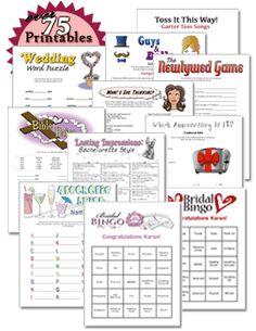 printable bachelorette and bridal shower games