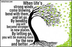 Let's all bend a litttle. It wll make us stronger. A tree that cannot bend will break and die.