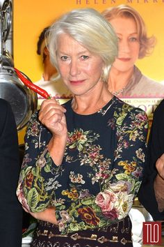 Helen Mirren at The Hundred Food Journey Movie Photocall (wearing Dolce&Gabbana).