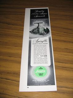 1956 Print Ad Langley Spinflo Double-Matic 822GB Fishing Reels San Diego,CA #MagazineAd