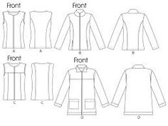 Zippered jacket pattern