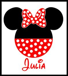 Plus Size Minnie Inspired Minnie Mouse by 3LittleDevilsDesigns, $10.99
