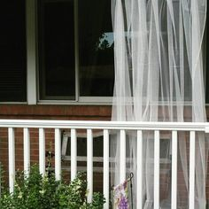 One White Mosquito Netting Curtain for Patio by TheFiligreeFern