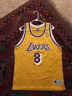 22d2d426 Kobe Bryant Vintage Lakers Champion Jersey Size 44 Large Swingman 8 #NBA  from $9.99