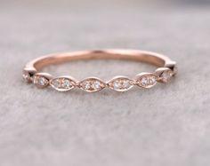 Natürliche Diamanten eine halbe Ewigkeit Ehering massiv von popRing