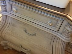 Waverly Chalk Paint in Silver Lining with Clear & Dark Wax