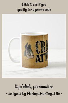 Crappie Attitude Funny Fishing Coffee Mug #funny #fishing #humor #fisherman #CoffeeMug Trick Pictures, Crappie Fishing Tips, Fishing Humor, Photo Mugs, Funny Jokes, Attitude, Coffee Mugs, Treats, Make It Yourself
