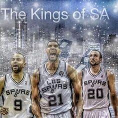 Spurs Big 3. Tony Parker, Tim Duncan & Manu Ginobili