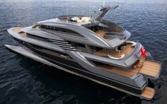 Sporty looking yacht