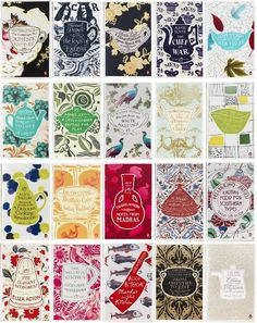 Penguin Books Great Food Series Designed by Coralie Bickford-Smith, Inspired by Period Ceramic Designs