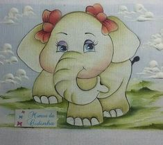 Happy Elephant, Elephant Love, Elephant Art, Baby Painting, Fabric Painting, Pencil Design, Pug Art, Baby Drawing, Baby Girl Quilts