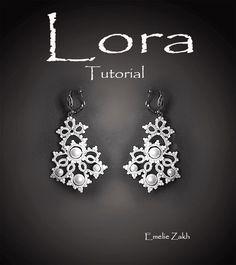 """PDF Tatting Pattern """"Lora Earrings"""" Instant Download by Emeliebeads on Etsy https://www.etsy.com/listing/227052963/pdf-tatting-pattern-lora-earrings"""