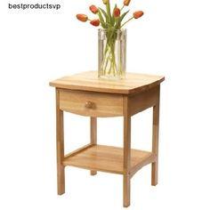 #Ebay #End #Table #Night #Stand #Wood #Bedroom #Nightstand #Side #Bedside #Natural #Drawer #Shelf #WinsomeWood