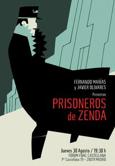 """Poster for a show about """"Prisioneros de Zenda"""" book in FNAC store."""
