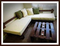 Corner Sofa   Handmade using Pallet Wood by PalletBrighton on Etsy, £350.00