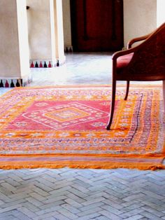 awesome orangey rug