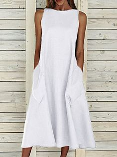 Women's A Line Dresses, Necklines For Dresses, Types Of Dresses, Casual Dresses, Dresses Dresses, Sleeveless Dresses, Dresses Online, Fashion Dresses, Summer Maxi