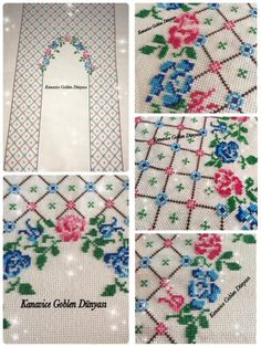 Cross Stitch Borders, Cross Stitch Flowers, Chicken Scratch, Prayer Rug, Needlepoint, Projects To Try, Quilts, Embroidery, Blanket