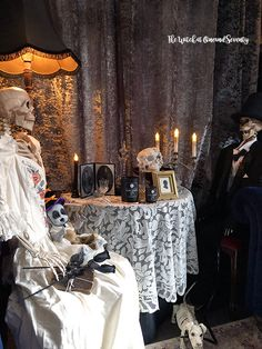 A very Victorian Halloween by The a Witch at OneandSeventy Halloween Make, Halloween Fashion, Victorian Halloween, Skeletons, Halloween Decorations, Witch, Handmade, Home Decor, Hand Made