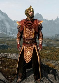 """Battlemage"" by Zoidberg  Telvanni Robes  Thalmor Boots  Shrouded Handwraps  Elven Helmet"