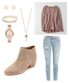 """Rosy"" by rebecca-kruck on Polyvore featuring Paige Denim, American Eagle Outfitters, Joie, Kate Spade, Michael Kors, Aéropostale and Charlotte Russe"