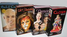 Mehron Makeup Kit dance bald clown cat school stage theatrical costume set play #Mehron