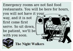 "This needs to be put on  plaque and into every ER waiting room for ""patients"" to see and read."