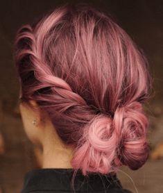 Gold Hair Colors, Hair Color Pink, Cool Hair Color, Best Pink Hair Dye, Purple Hair, Rose Pink Hair, Rose Gold Hair Brunette, Rose Gold Short Hair, Rose Gold Brown Hair