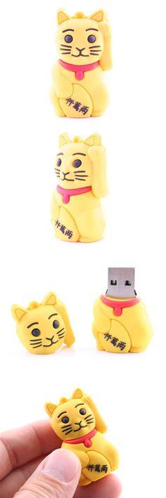 Fortune Cat USB Flash Drive  http://www.usbgeek.com/products/fortune-cat-usb-flash-drive