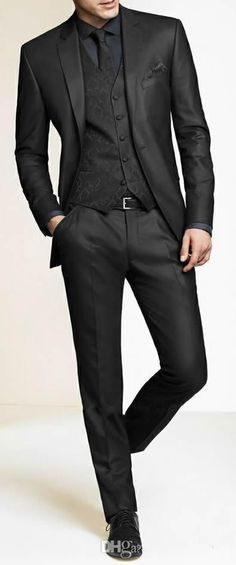 Men Slim Fit Suits Custom Made Charcoal Grey Groom Suit, Bespoke Tailor Wedding Suits For Men, Mens Wedding Tuxedos Suits H67 Best Tuxedos For Prom Black Tuxedo Black Shirt From Liguoshop666, $78.58| Dhgate.Com #menweddingsuits