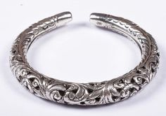 925 Solid Sterling Silver Bangle Nice Rajasthan Traditional Desing 50 mm JSBG-36 #Handmade #Bangle