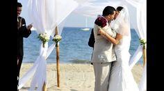 Beach wedding in Santa Barbara, California.