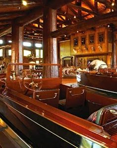 Lee Anderson's Boat House interior. You can read more about it in the March issue of Classic Boating (they are not online as far as I can tell)