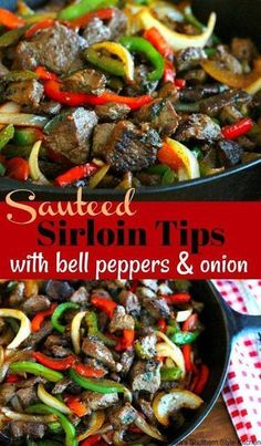 Beef Tip Recipes, Grilled Steak Recipes, Beef Tips, Onion Recipes, Healthy Diet Recipes, Grilled Meat, Enchilada Recipes, Skillet Recipes, Stir Fry Recipes