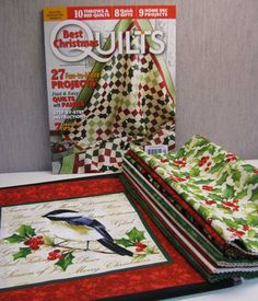 Best Christmas Quilts 2013 Giveaway: Day 3 -- Prize #5 is a copy of Best Christmas Quilts 2013 and a bundle of Cardinal Christmas by Deborah Edwards for Northcott